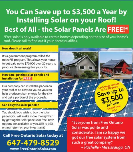 Free Ontario Solar Offer